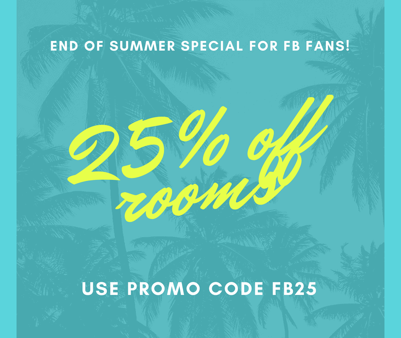 End of Summer Special for FB Fans!